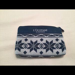 NEW! L'Occitane Knit Cosmetics Pouch w/Lining